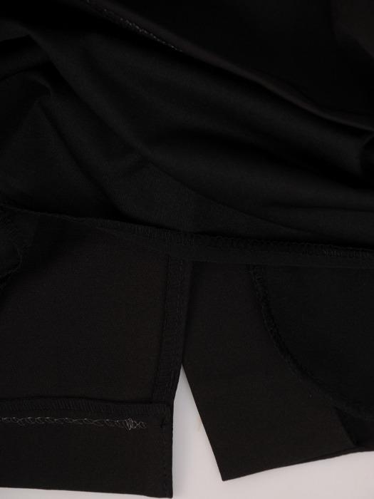 Sukienka kopertowa, wyszczuplająca kreacja z łączonych tkanin 21861