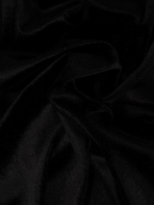 Aksamitna mała czarna z ażurowym karczkiem 18790