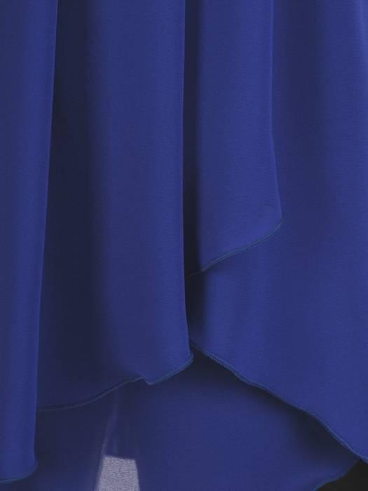 Asymetryczna chabrowa tunika z koronkową aplikacją 29304