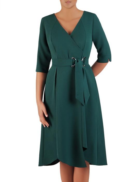 Asymetryczna sukienka z kopertowym dekoltem 22055