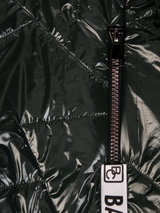 Asymetryczna zielona kurtka z kapturem 27668