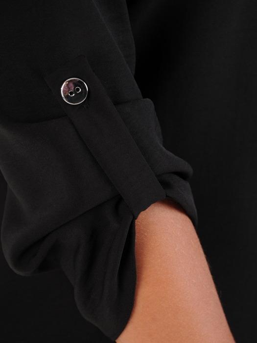 Bawełniana bluzka z luźnymi, podwijanymi rękawami 22098