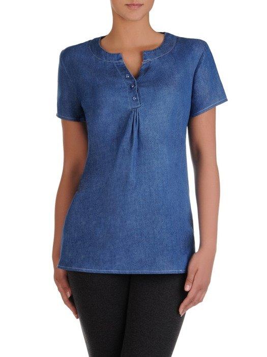 Bawełniana bluzka z zapięciem na guziczki 16941