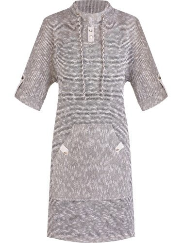 Bawełniana sukienka z wielką, ozdobną kieszenią Kornelia.