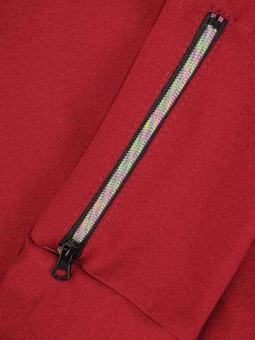 Bawełniany dres damski, bluza z kapturem zapinana na zamek 29687