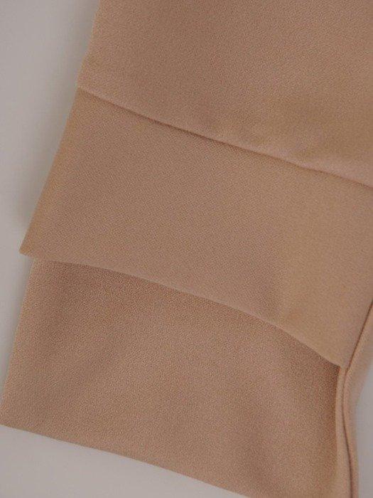 Beżowe spodnie z gumką w pasie 25850