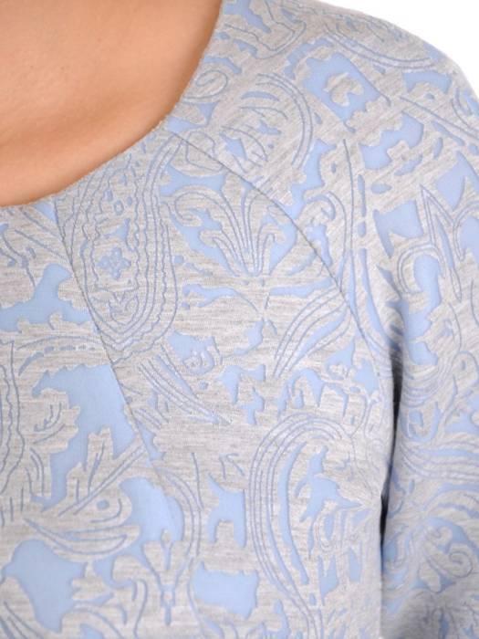 Błękitna sukienka z kieszeniami, modna kreacja w luźnym fasonie 28308