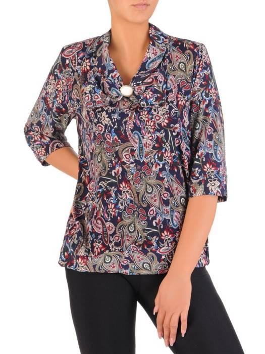 Bluzka damska z ozdobną kokardą 27200