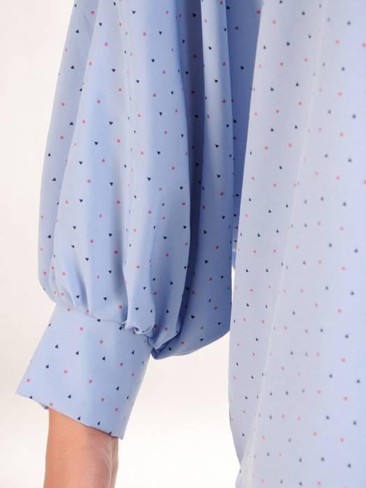Bluzka damska z przedłużanym tyłem 29476