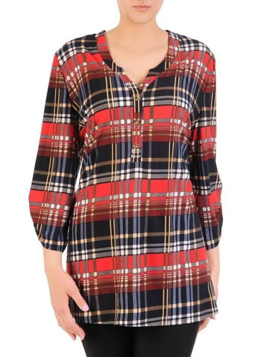 Bluzka, tunika damska w modną kratę 29827