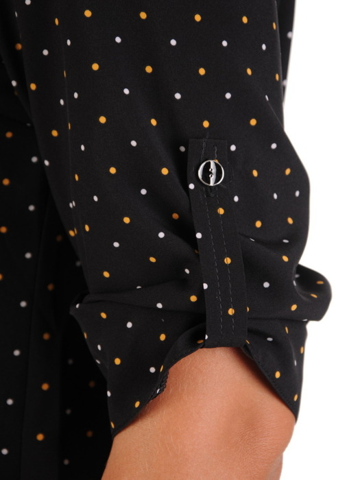 Bluzka zapinana na guziki w groszki 21950.