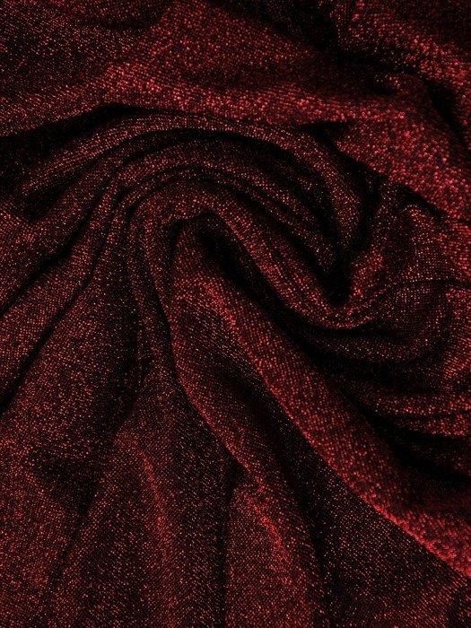 Błyszcząca sukienka z ozdobnym marszczeniem w talii 24499