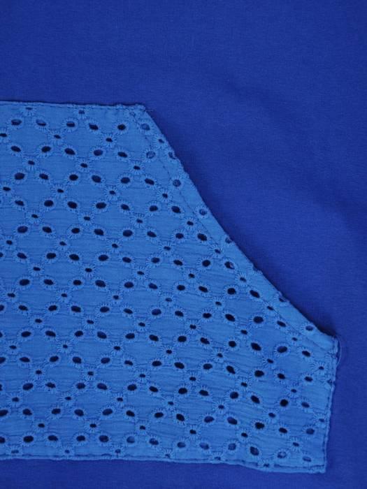 Chabrowy dres damski z koronkowymi wstawkami 29448