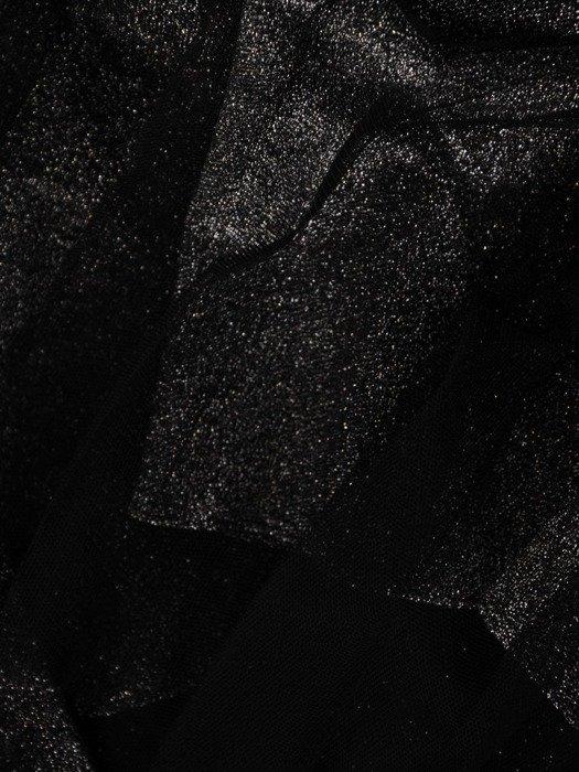 Czarna błyszcząca tiulowa spódnica 24840