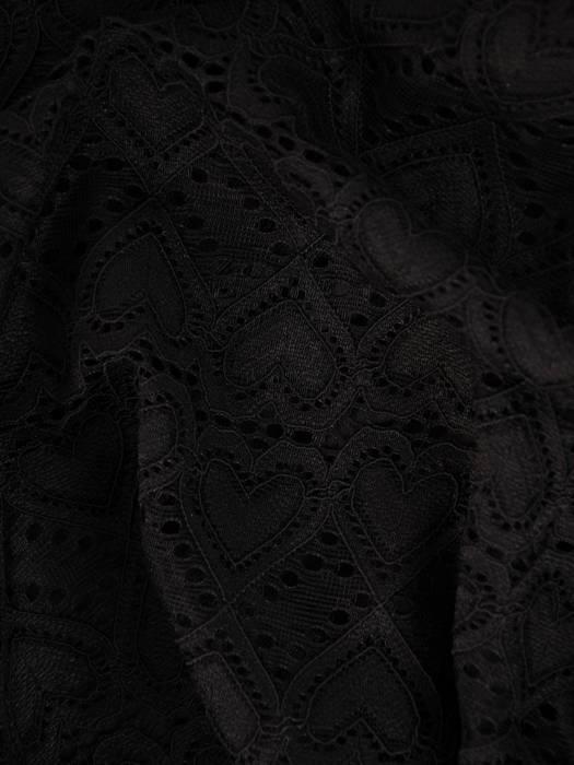 Czarna elegancka bluzka z koronki 28645