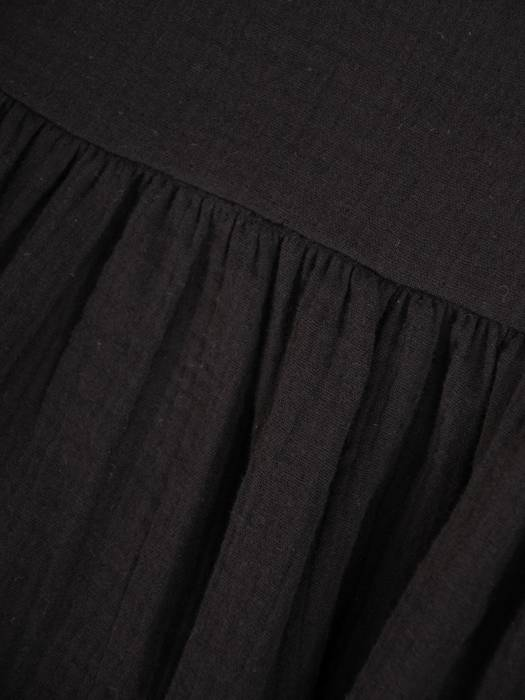 Czarna, luźna tunika w fasonie maskującym brzuch 29703