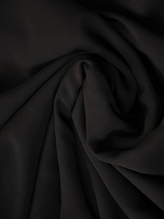 Czarna sukienka wieczorowa z ozdobnym, tiulowym topem 31182