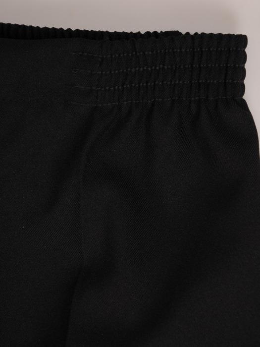 Czarne spodnie z nogawkami w kant 20259