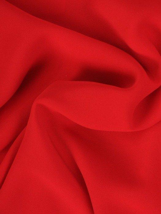 Czerwona bluzka z ozdobnymi rękawami 25893