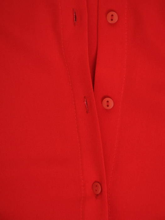 Czerwona, elegancka koszula damska z kołnierzykiem 30574