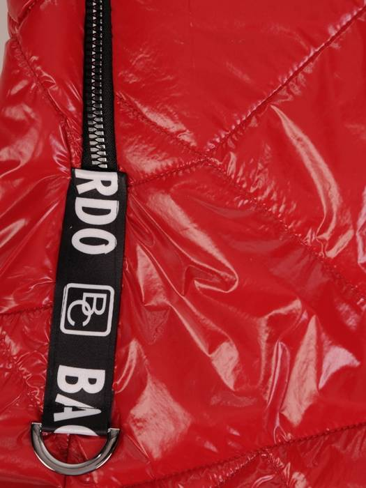 Czerwona połyskująca kurtka zapinana na suwak 27390