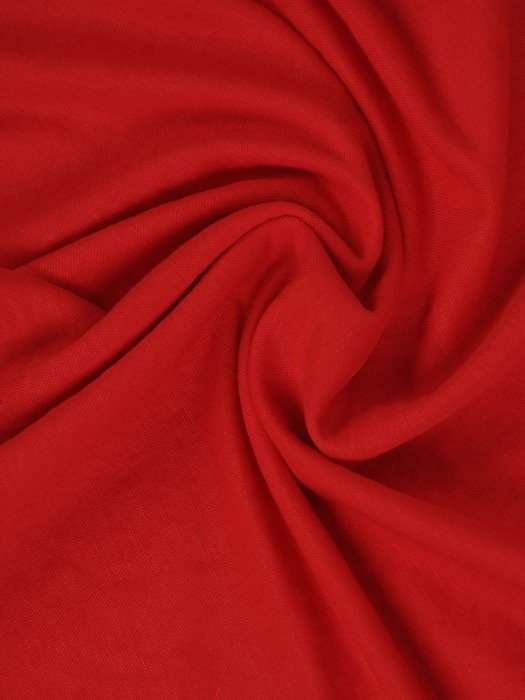 Czerwona sukienka z wiązaniami na rękawach 17576.