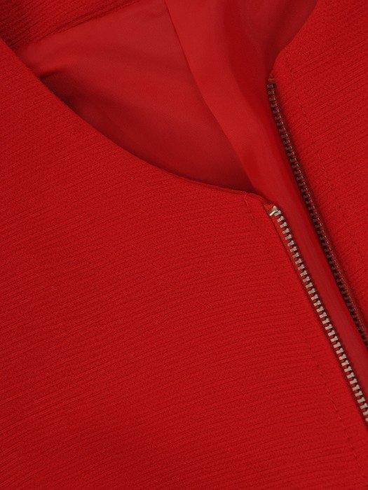 Czerwony komplet z ozdobnymi, metalowymi suwakami  23156