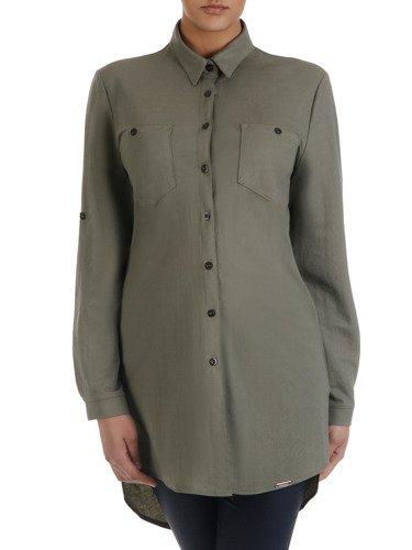 Długa, luźna koszula z kołnierzykiem 15921.