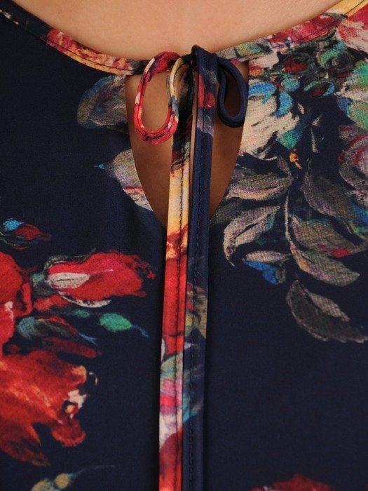 Długa szyfonowa sukienka w kwiaty 25921