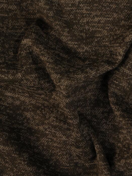 Długi, melanżowy sweter z metalowym suwakiem 22313