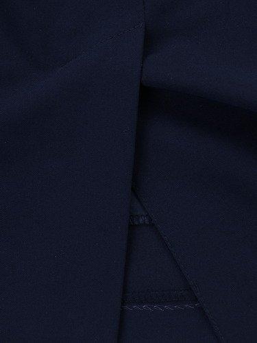 Dwukolorowy kostium damski Benita II, elegancka garsonka maskująca brzuch.
