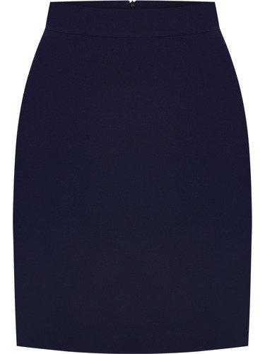 Dwukolorowy kostium damski Benita III, elegancka garsonka maskująca brzuch.