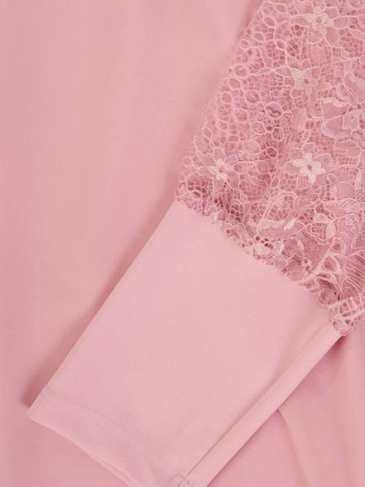 Dwuwarstwowa elegancka sukienka w kolorze pudrowego różu 29751