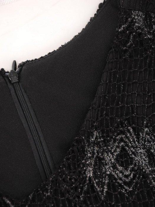 Dwuwarstwowa sukienka wyszczuplająca brzuch 18060.