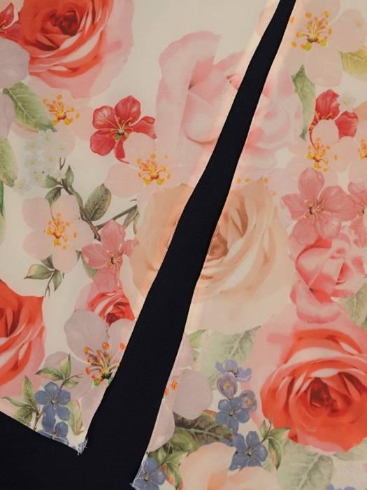 Dwuwarstwowa tunika w kwiaty 29834