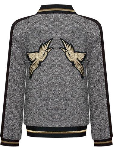 Dzianinowa bluza ze złotymi zdobieniami Marina.