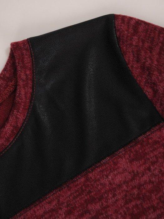 Dzianinowa bluzka z modnym nadrukiem 17844.