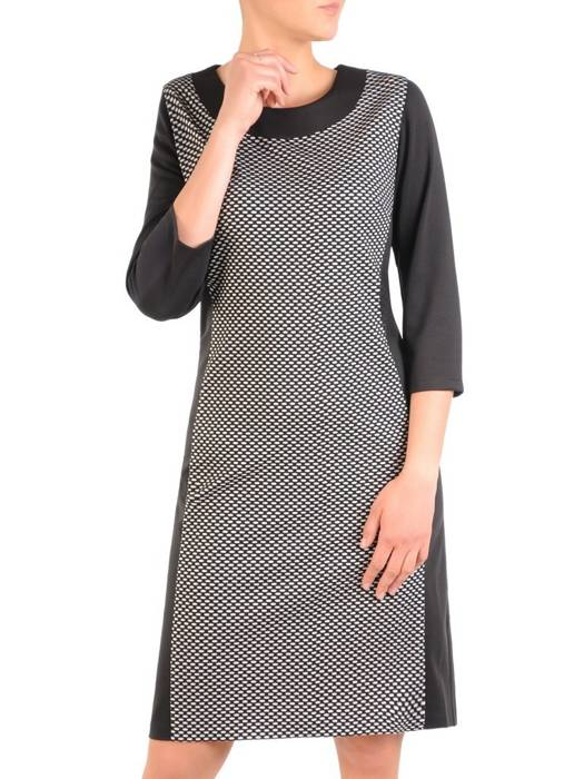 Dzianinowa sukienka damska, kreacja o wyszczuplającym wzorze 29755