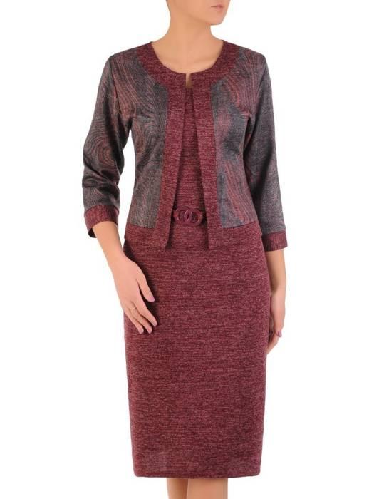 Dzianinowa sukienka, kreacja z imitacją żakietu 28438