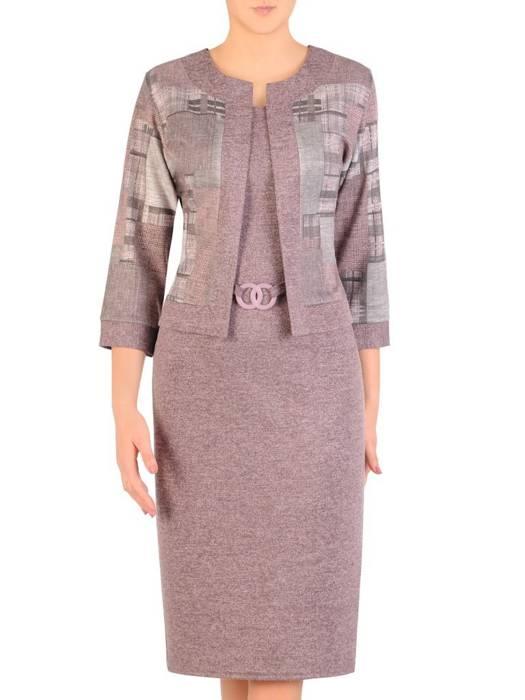 Dzianinowa sukienka, kreacja z imitacją żakietu 29336