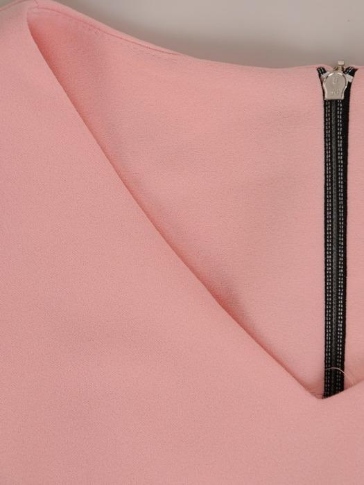 Dzianinowa sukienka z kieszeniami, modna kreacja w fasonie tuby 20576