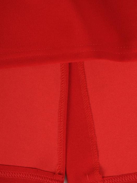 Dzianinowa sukienka z oryginalnie wykończonym dekoltem 22169