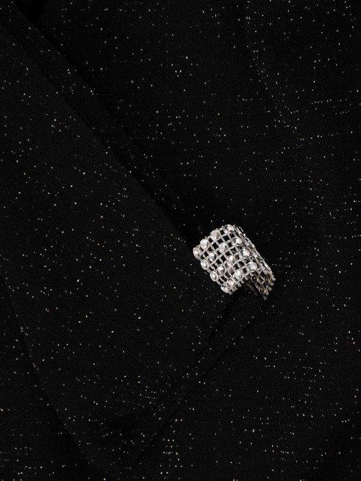 Dzianinowa sukienka z ozdobnymi rozcięciami na rękawach 22807