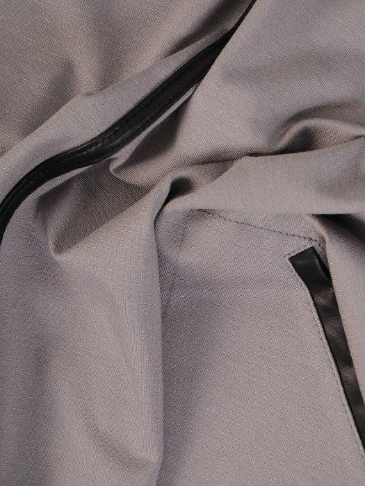Dzianinowa tunika ze skórzanymi wstawkami 24333