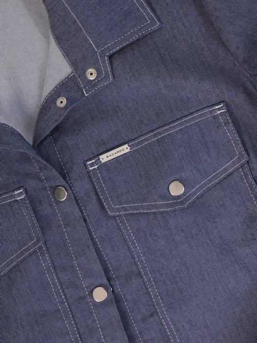 Dżinsowa koszula z ozdobnymi kieszeniami 29309