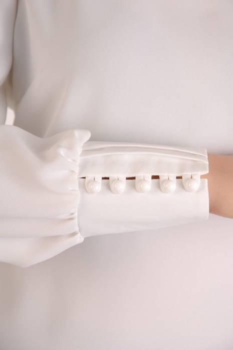 Elegancka, biała bluzka damska 28034