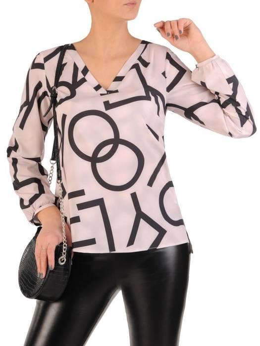 Elegancka bluzka damska w modny wzór 28596