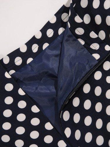 Elegancka spódnica w groszki 16622.