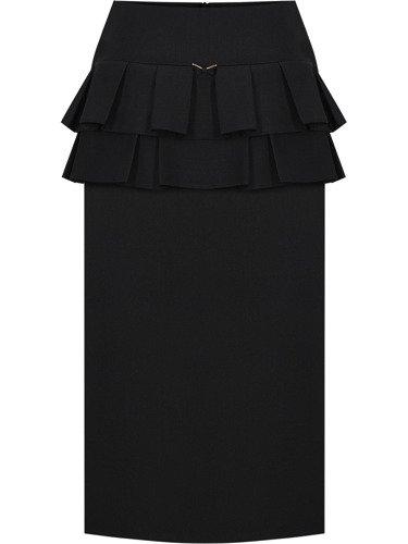 Elegancka spódnica z dekoracyjną baskinką Agnes