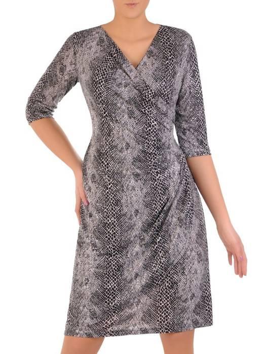 Elegancka sukienka damska, kreacja imitująca skórę węża 28479